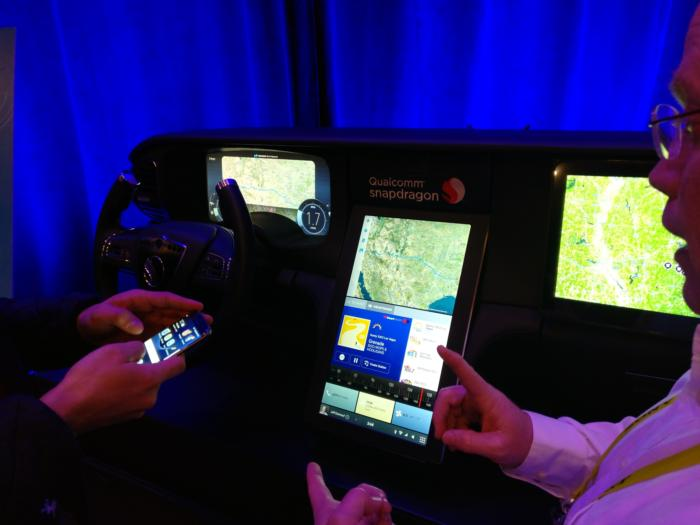 Qualcomm automobile display