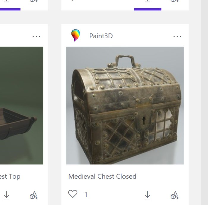 paint3d treasure chest remix3d
