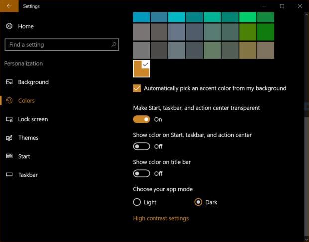 Windows 10 dark