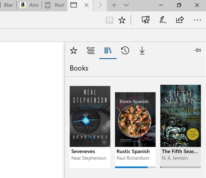 Microsoft edge books