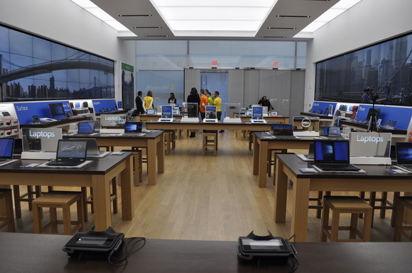 Microsoft's fagship Fifth Avenue store in Manhattan