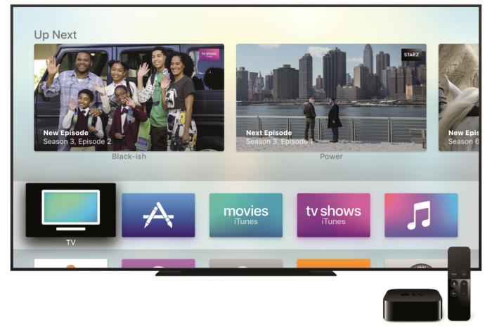 Apple TV main menu