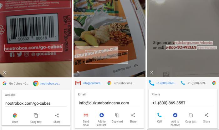google lens links