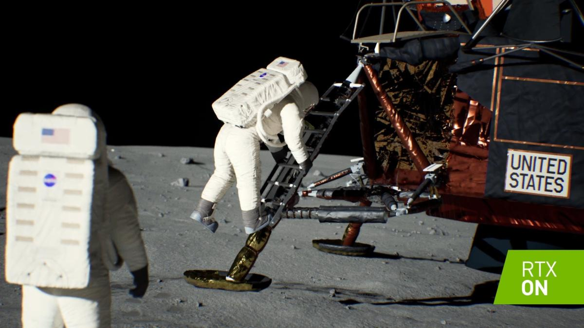 Nvidia moon landing 50th rtx 3
