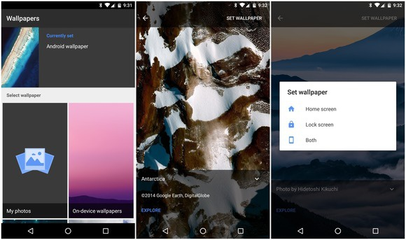 google wallpapers app