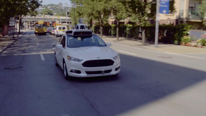 uber self driving Ford autonomous