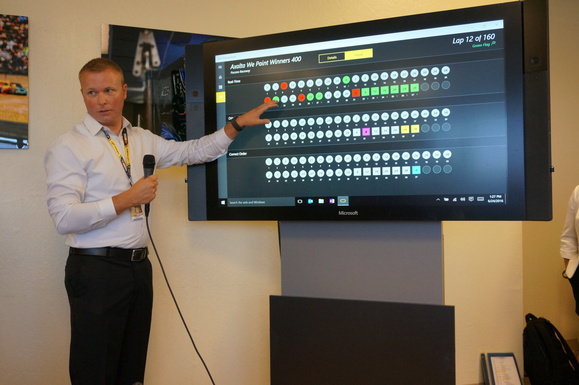 Stephen Byrd NASCAR Race Management app demo
