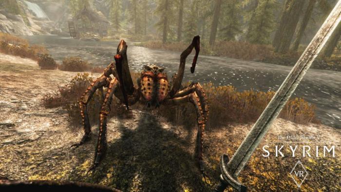 skyrim vr spider