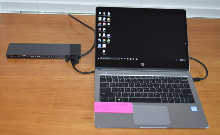 USB-C - HP Elite 90W Thunderbolt 3 dock and HP EliteBook Folio G1 laptop