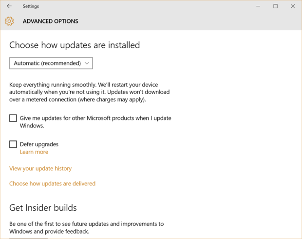 windows 10 pro updates