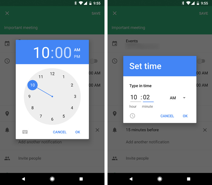 Android Oreo tips - time selector