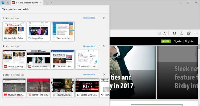 Windows 10 Creators Update - tab groups