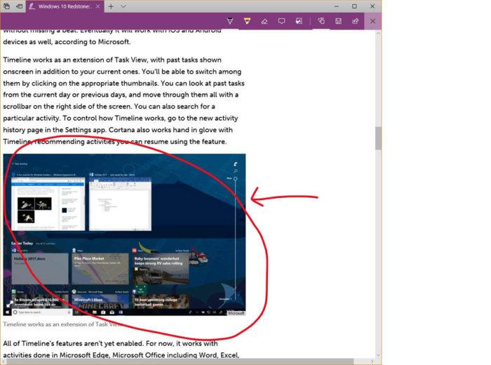 Windows 10 Edge annotate