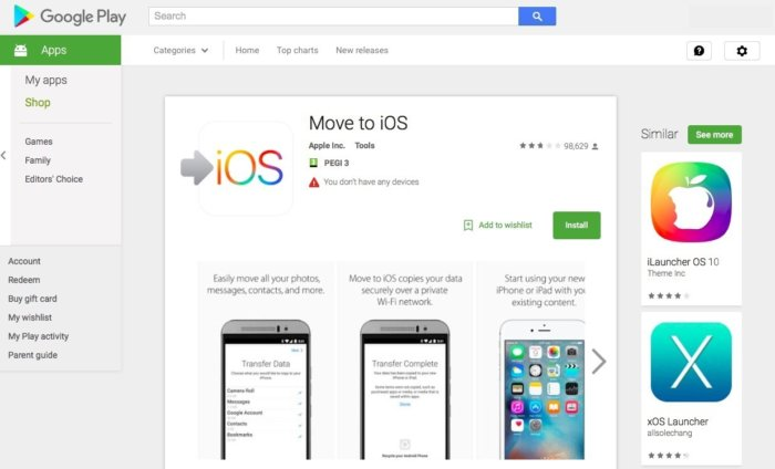 how to go from iphone to android
