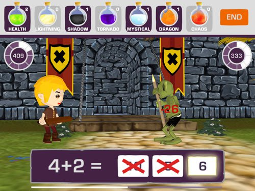 Medieval Math Battle app game