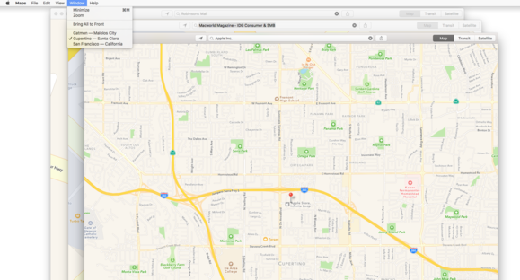 osx el capitan maps windows
