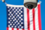 us flag surveillance camera