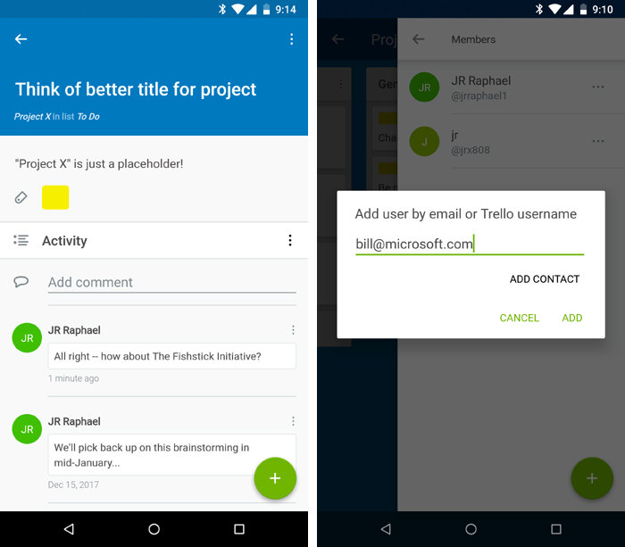Android apps for collaboration - Trello