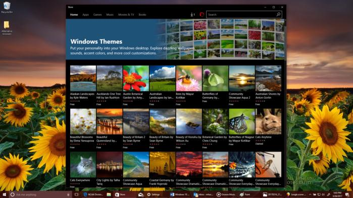 windows 10 themes and store edit
