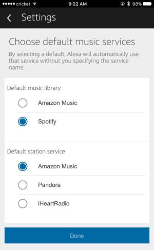 alexa default music