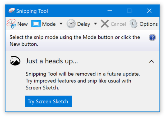 Microsoft Windows 10 insider snipping tool