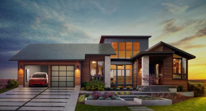 Tesla solar roof tile