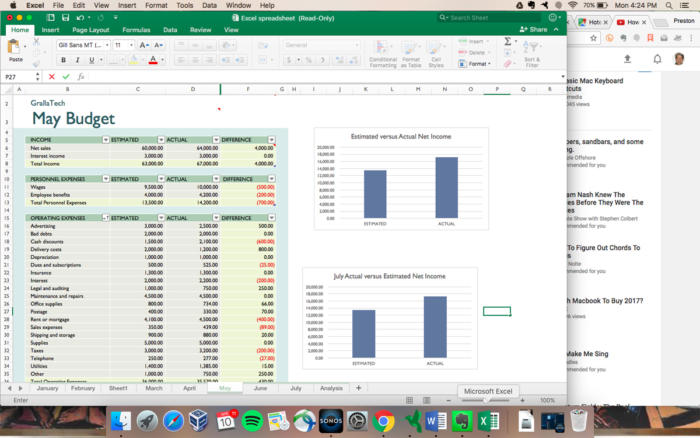 Microsoft Excel - Mac client