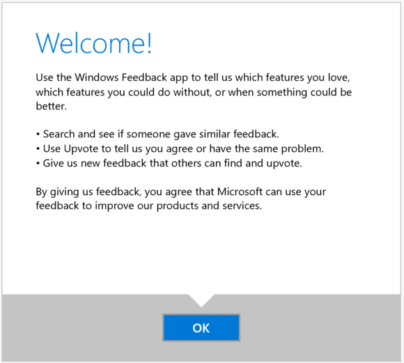 windows feedback app