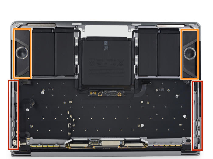macbook pro touch bar teardown speaker grilles
