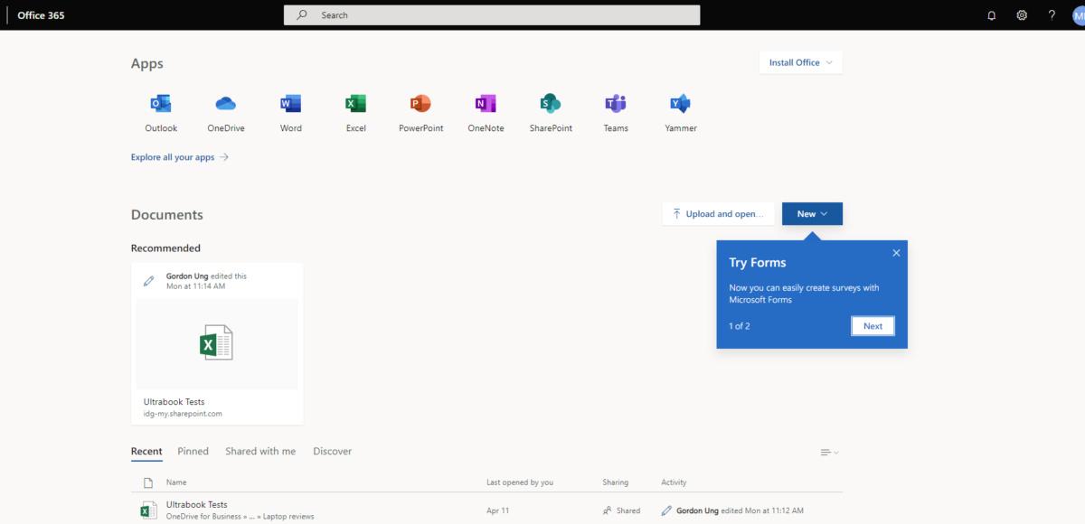 Microsoft search box