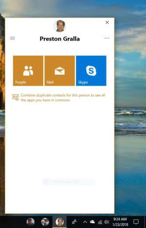 Windows 10 My People