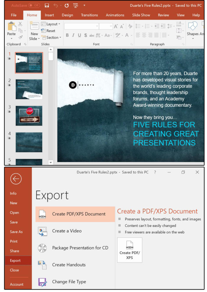 how to put an adobe acrobat file into powerpoint