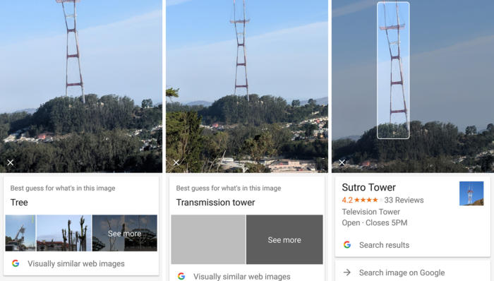 google lens sutro tower