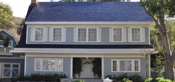 press solar Tesla solar roof