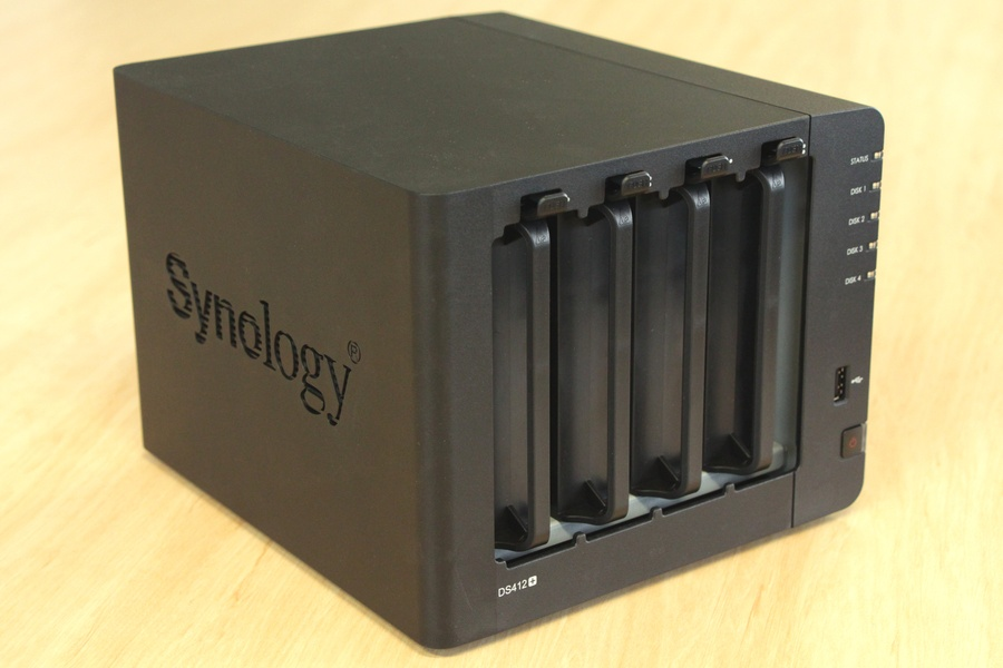 Synology DiskStation DS412+ network attached storage device