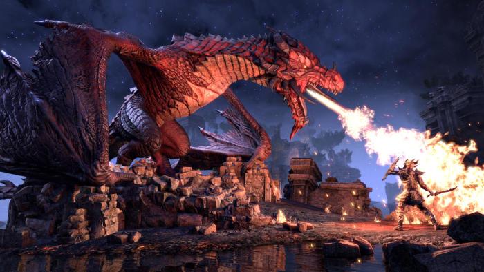 elder scrolls online dragons