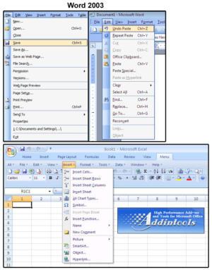 03 classic microsoft menus add in programs