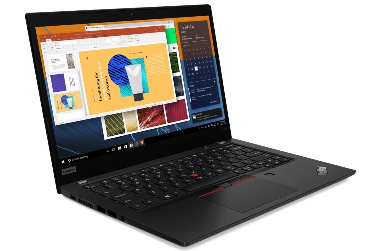 lenovo thinkpad x390 black front facing right