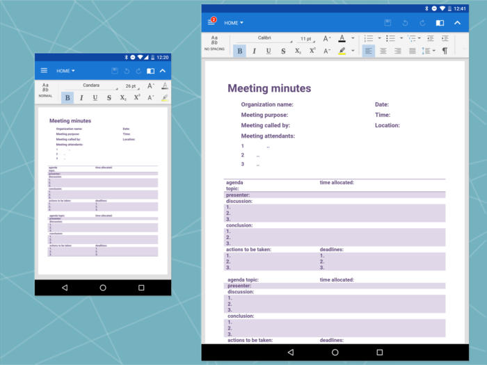 Android Office: OfficeSuite word processing