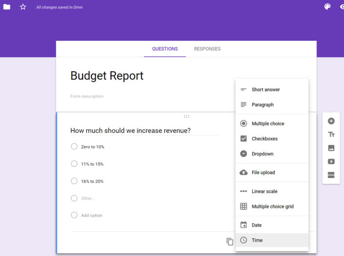 google sheets google forms survey feature