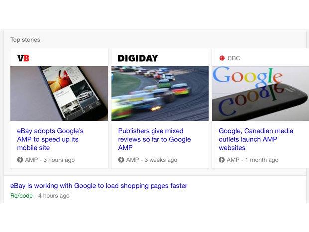 google amp screen shot