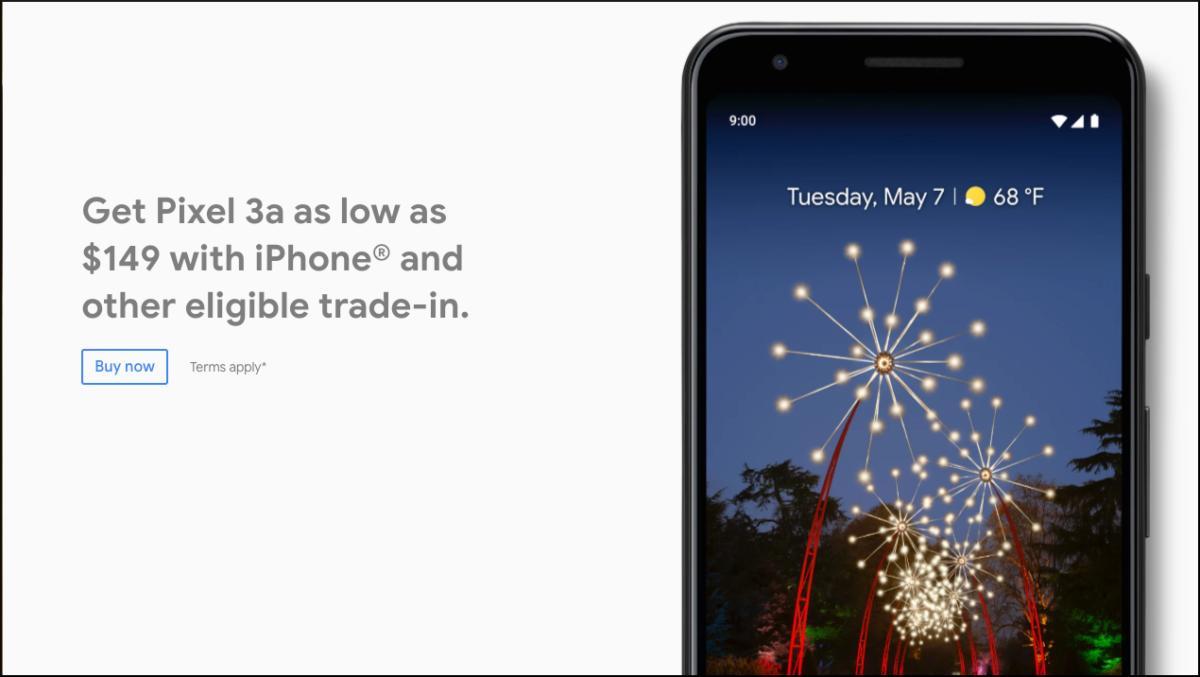 Google Store Pixel 3a deal