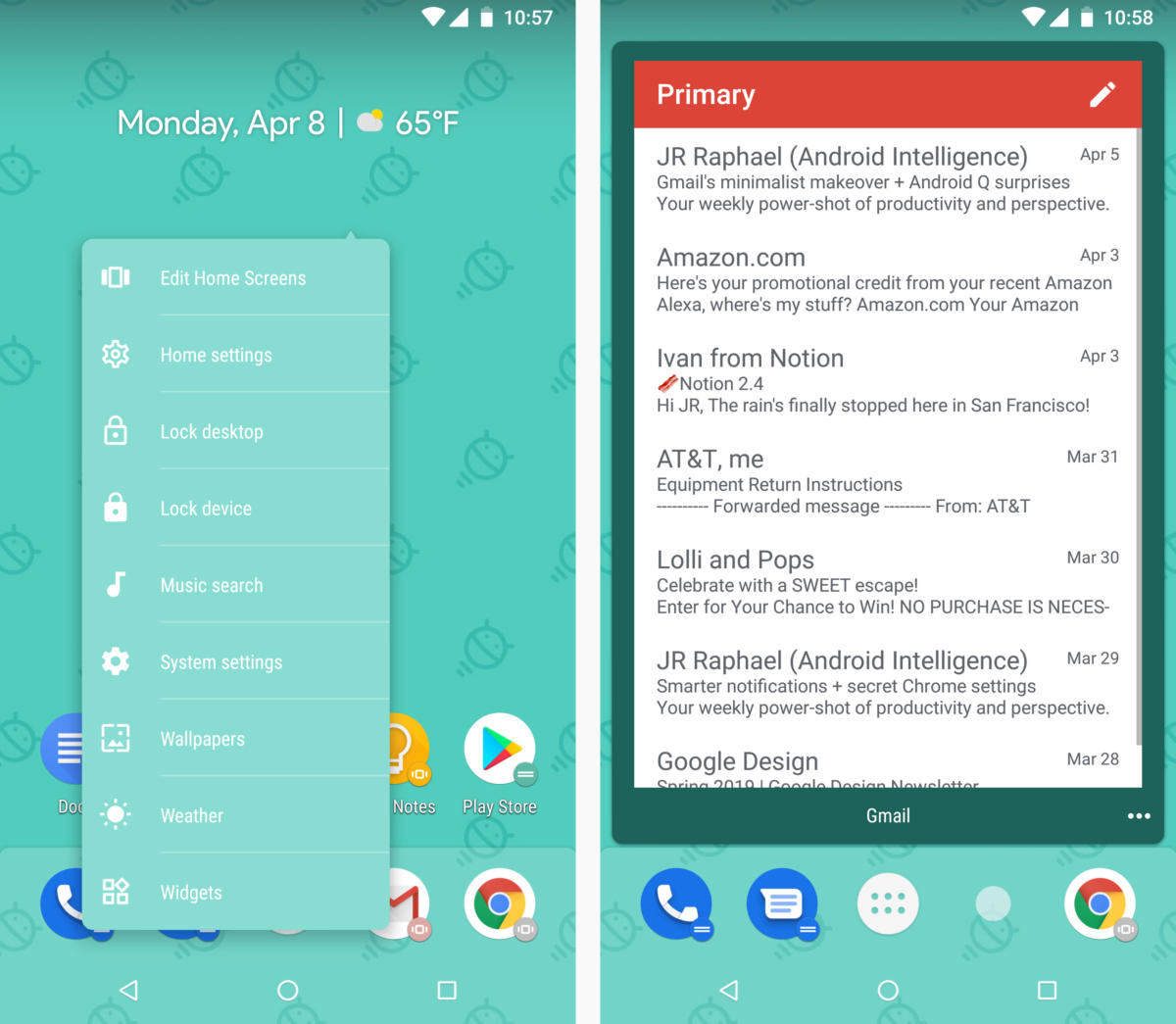 android launchers action launcher
