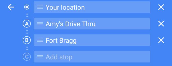google maps addstop