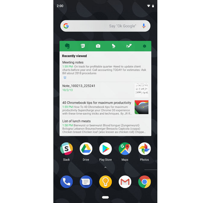 best android widgets Evernote