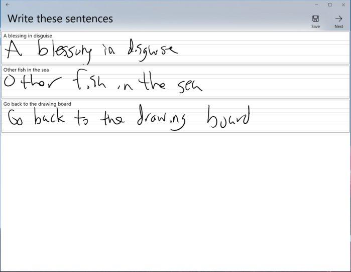 Microsoft Font Maker phrases
