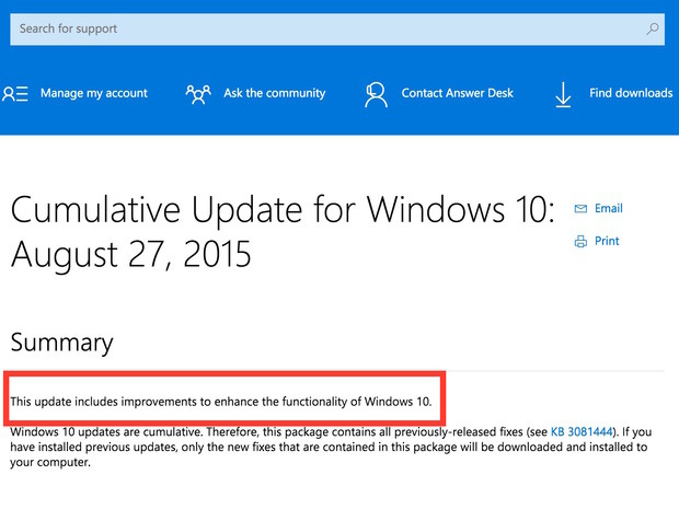 No Win 10 information for you