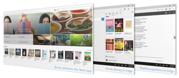 windows Build 15014 insider ebooks