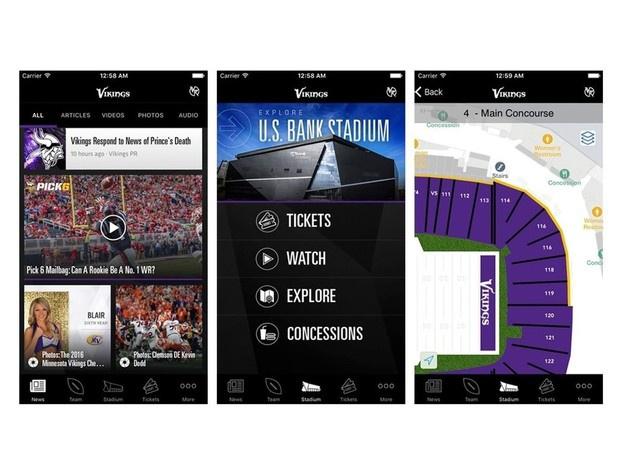 vikings app Vikings stadium