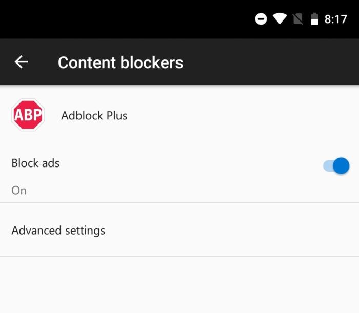 adblocker in edge android